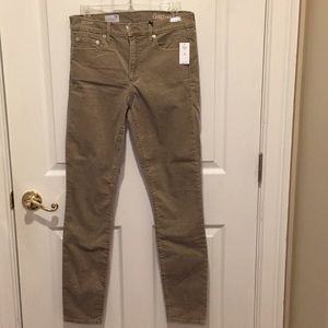 NWT GAP tan corduroy skinny pants